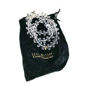 Joan Rivers clear bauble bracelets